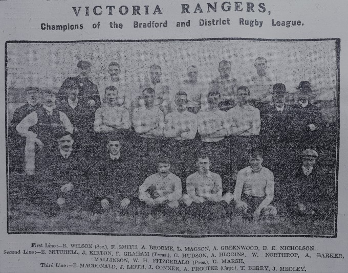 1907-05 Victoria Rangers team