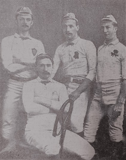 Fred Bonsor - Rawson Robertshaw - Edgar Wilkinson - Laurie Hickson 1896-97