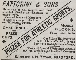 1887-07-14 Fattorinis advert for athletics prizes