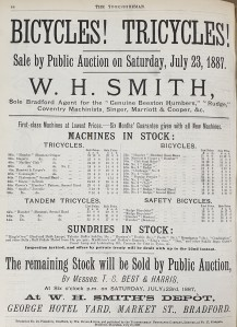 1887-07-14 Yorkshireman advert for bicycles - Market St