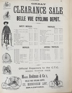 1887-07-14 Yorkshireman bike clearance advert